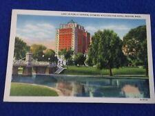 Postcard ~ Lake in Public Garden ~ Ritz-Carlton Hotel ~ Boston MA ~ UNUSED