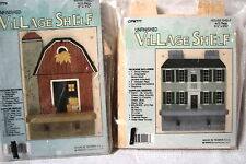 Pair Real Wood Unfinished Small Shelf Shelves House and Barn Kits