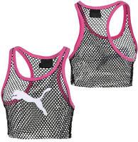 Puma x Rihanna Fenty Womens Mesh Cropped Tank Top Vest 577447 04 R9D