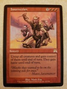 Insurrection Onslaught NM Red Rare MAGIC THE GATHERING MTG CARD