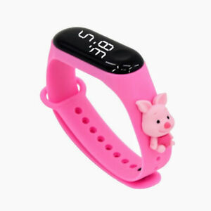 2021 New LED Display Kids Digital Watch Cute Cartoon Soft Silicone Bracelet