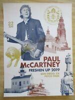 NEW PAUL McCARTNEY FRESHEN UP TOUR 2019 Beatles Concert Poster San Diego 159/300