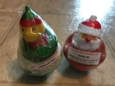Set of Two Kids Holiday Bath Bombs Christmas Duck and Santa Ho Ho Ho