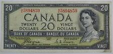 1954 BANK OF CANADA TWENTY DOLLAR B/E DEVILS FACE BC-33a COYNE TOWERS NOTE