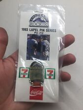Souvenir Lapel Hat Pin #12 Colorado Rockies Baseball 1993 Dodgers Coca-Cola
