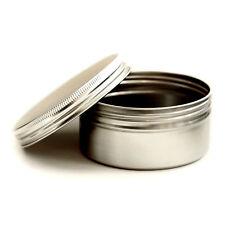 5 x 250ml Empty Cosmetic Pots Lip Balm candle Jar Aluminium screw lid Tins jqa5