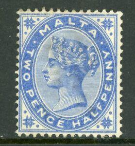 Malta 1885 QV 2½p Ultramarine Scott #11 Mint A332 ⭐⭐⭐