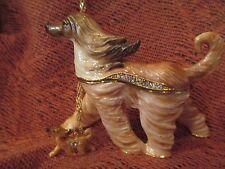 Ari ~ The Elegant Afghan Hound ~ Enameled Jewel Box & Necklace #62723