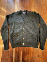 Vtg Polo Ralph Lauren Size 40 Forest Green Cable Knit 100% Wool Cardigan Sweater