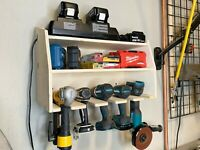 Cordless 5 Tool Organizer Holder/charger fits Makita Dewalt 20c 18v 36v battery