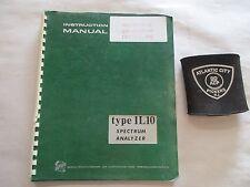 TEKTRONIX TYPE 1L10 SPECTRUM ANALYZER INSTRUCTION MANUAL 070-0510-00