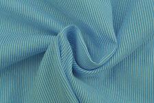 A10 Azul Medio Algodón Puro Fine aguja Raya Fabricado Para HUGO BOSS