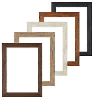 Driftwood effect Flat Picture Frame Photo Frame Poster Frames A4 , A3 Black UK