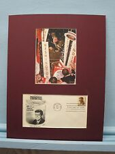 Norman Rockwell painting of John F. Kennedy  &  First Day Cover of his stamp
