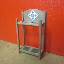 1/12 scale Dolls House Furniture  Hall Stick Stand Kit    Rose tile    Mc68