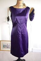 Diane von Furstenberg Purple Satin Pencil Dress Sheath 12 14 16 Large Dorothea