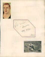 More details for autograph edward temme 1st man to swim channel both ways  1934 original signat