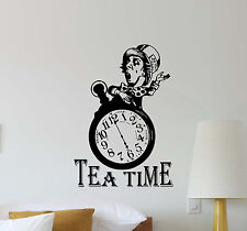 Tea Time Mad Hatter Wall Decal Alice In Wonderland Vinyl Sticker Poster Art 452