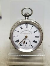 Antique solid silver Pain Brothers Hastings pocket watch c1900 working ref1089