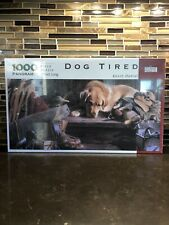 Vintage Sealed Spilsbury Puzzle Co. Dog Tired Kevin Daniel 1000 Pc Panoramic