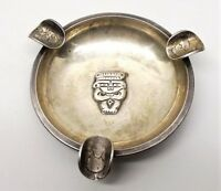 Vtg 900 Coin Silver Columbian Ashtray Centavo Mayan Aztec God Solid Columbia
