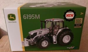 BRITAINS JOHN DEERE 6195M TRACTOR 1/32 SCALE - SILVER 100YR LIMITED EDITION