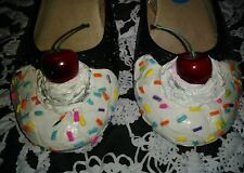 Handpainted Womans Cupcake Shoes Size 10