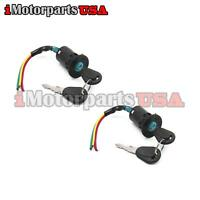 (2) X UNIVERSAL HONDA YAMAHA ATV BIKE MOTORCYCLE 3 WIRES IGNITION SWITCH W/ KEYS