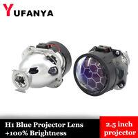 2.5'' H1 Blue Bi xenon HID Projector Lens Honeycomb fit H4 H7 Headlight Retrofit