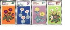 New Zealand 1972 ALPINE PLANTS (4) Unhinged Mint SG 983-6