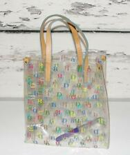 DOONEY & BOURKE *IT COLLECTION* SIGNATURE LOGO CLEAR VINYL LUNCH TOTE BAG PURSE