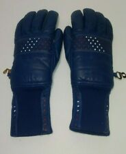 Vintage blue women's winter gloves size extra small
