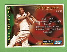 2002 WEETBIX  CRICKET CARD #21  KEITH  MILLER / #46  SHANE  LEE