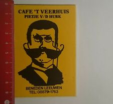 Aufkleber/Sticker: Cafe T Veerhuis Pietje V D Hurk (0601177)