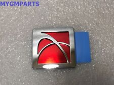 SATURN SKY RED AND CHROME INTERIOR STORAGE COMPARTMENT EMBLEM  15884209