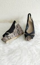 "Dorothy Perkins Womens 5"" Wedges Platform Shoes With Faux Animal Print Size 6"
