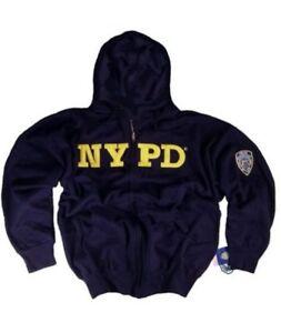 NYPD Shirt Hoodie Sweatshirt Navy Blue Authentic Clothing Apparel New York Mens