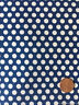 Polka Dots White On Blue Cotton Fabric- Fabric Traditions by the Yard