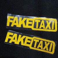 Fake Taxi Sticker Decal Funny Vinyl Car Bumper 2pcs