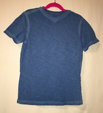 Cherokee Boys Short Sleeve V Neck T-Shirt Blue Size Small 6/7 ~Very Cute~