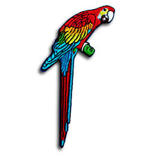 Parrot Patch Iron on Kid Sew Applique Cute Bird Animal Badge Macaw Colorful MC