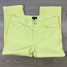 NYDJ LIft and Tuck Technology Women's Yellow Capri Jeans Size 6US W31 L20.5 (M9)