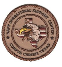 USN Patch Patch:  Navy Operational Support Center Corpus Christi, Texas - tan