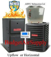 2 Ton Goodman/ASPEN 14 seer 95/96% 40K BTU Gas Furnace Multi Position Coil