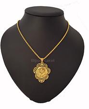 Tugra Kette Anhänger Türkische Gold Münze 24 Karat KP Altin Kaplama Halskette