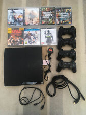 Sony PlayStation 3 Slim 250GB Charcoal Black Console Games and Controller bundle
