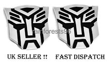 ( Super Look) 2 x QUALITY 3D Chrome Badge Transformer Autobots Emblem Car Decal