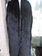 2XL# Elegant  Men's  Real  Mink fur knitted scarf  (Black)