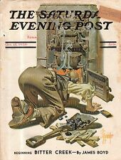 1938 Saturday Evening Post October 15 - Leyendecker bio; Heffelfinger; Dinosaur