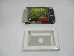 SECRET OF MANA Super Nintendo SNES Authentic Box & Insert NO GAME CART!